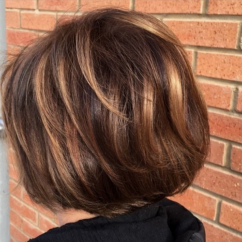 caramel balayage on chocolate hair