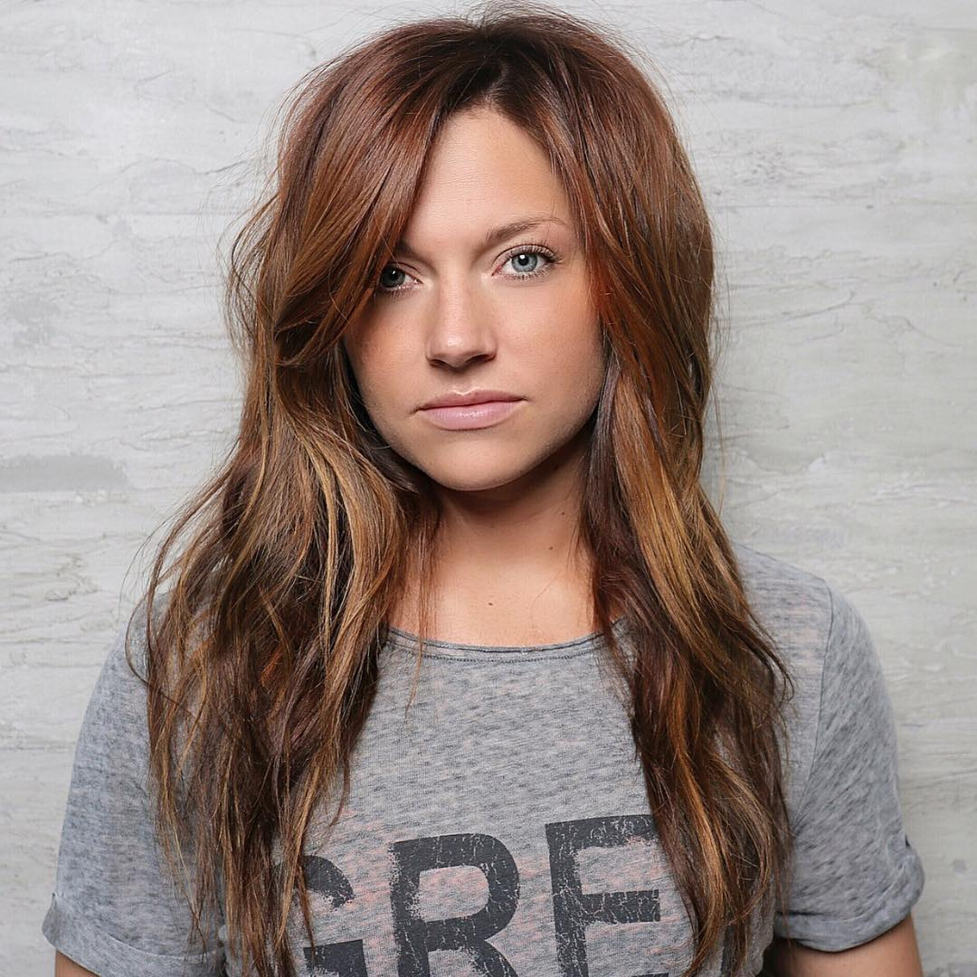 60 auburn hair colors to emphasize your individuality brown hair with caramel highlights pmusecretfo Image collections