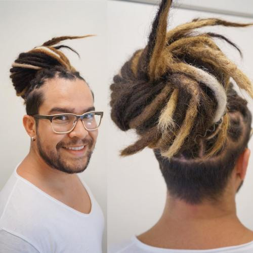 Colored Locs with Undershave