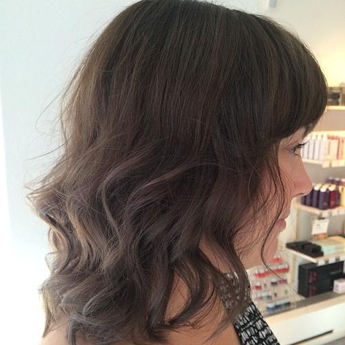 ash brown subtle ombre for medium hair