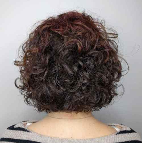 Curly Permed Bob