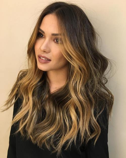 golden brown hair styles 4 most exciting shades of brown hair 5558 | 11 layered brown hair with golden brown highlights 1