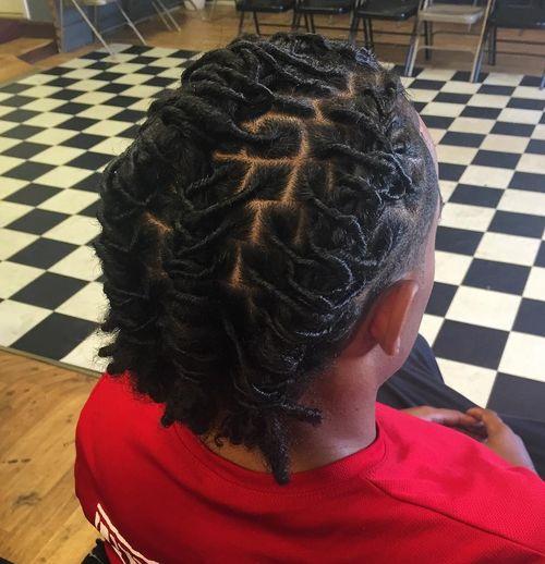 Elegant Menu0027s Hairstyle With Thin Dreadlocks