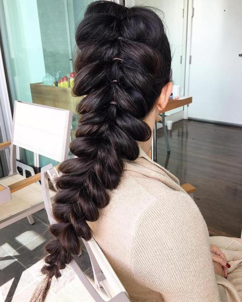 Pull Through Braid For Long Hair