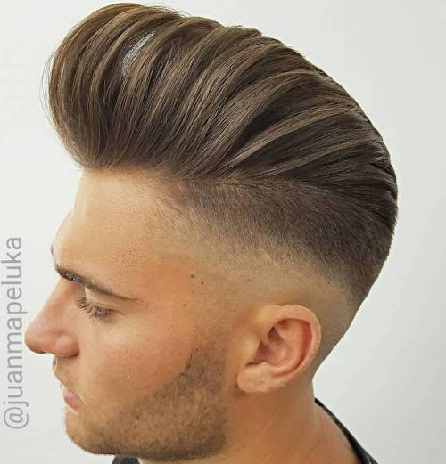 Tapered Pompadour Haircut