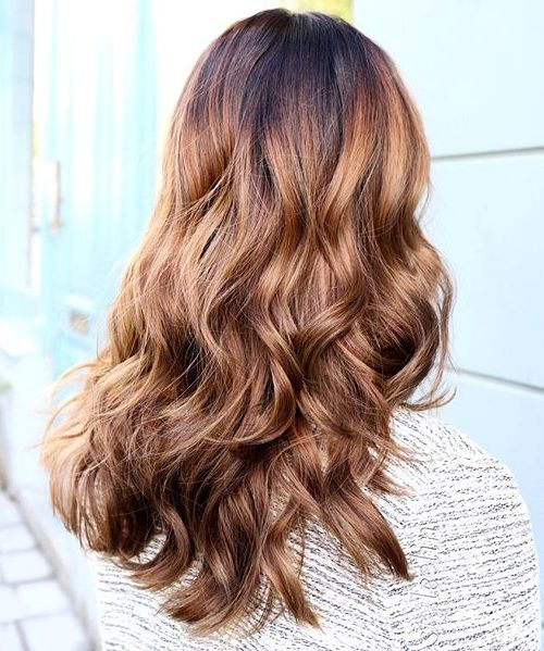 black to light golden brown ombre