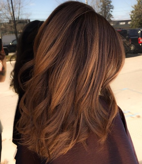 Dark golden brown hair