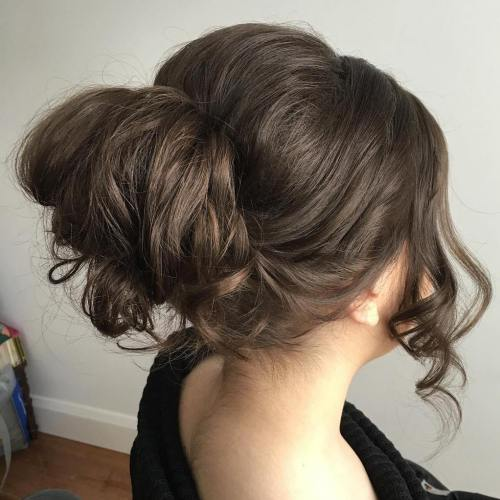Curly Bun With A Bouffant