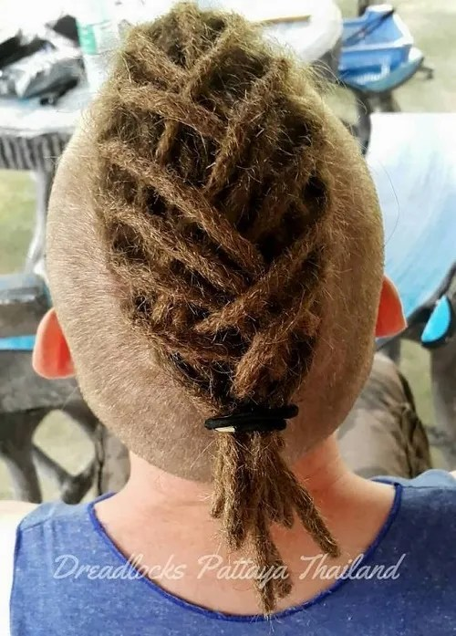dreadlocked mohawk for men