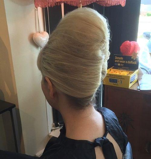 big blonde beehive