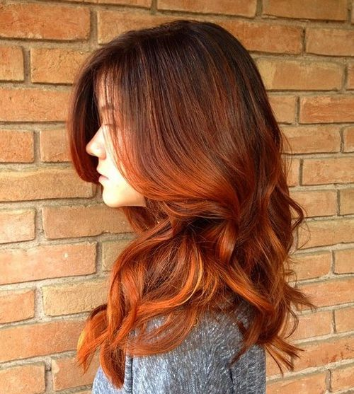 auburn ombre hair brown dark source hairstyle