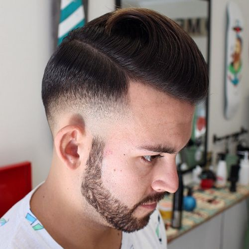 formal long top short sides hairstyle for men