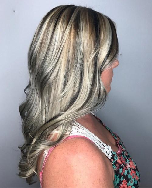 20 best hair color ideas in the world of chunky highlights salt and pepper streaks solutioingenieria Gallery
