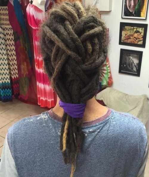basket weave braid for dreadlocks