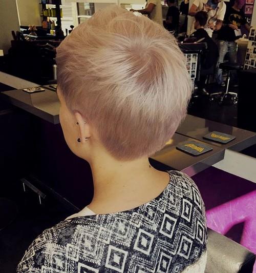 short pastel blonde pixie