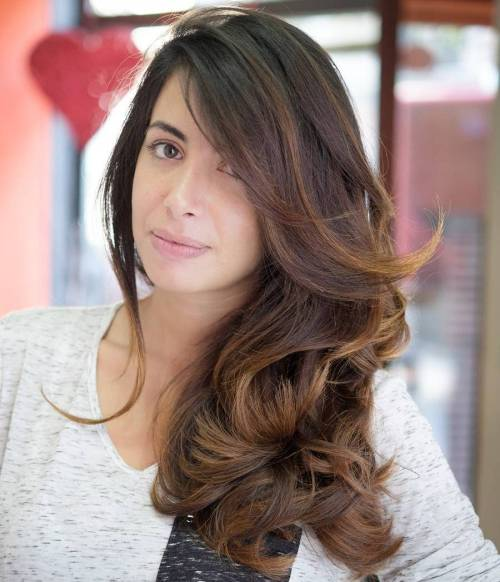 Long Brown Hair With Honey Blonde Highlights