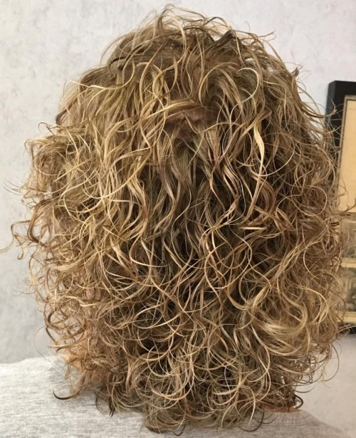 Wet Look Perm Hairstyle