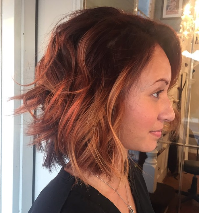 rose gold with chestnut