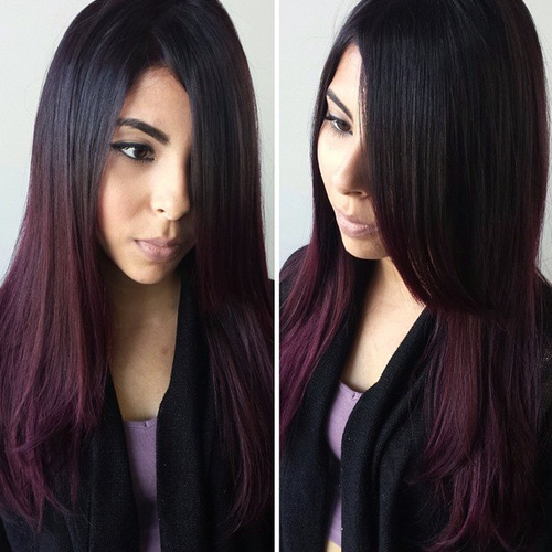 Black Hair Dyed Purple Without Bleach - Best Hair Dye 2017