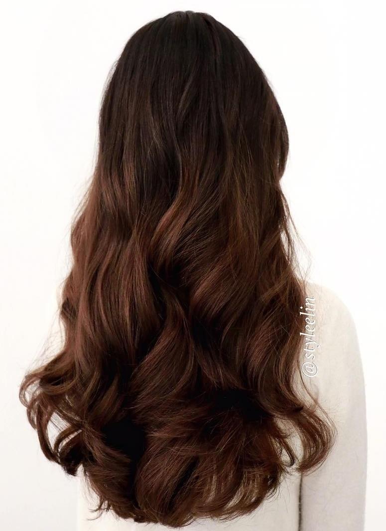 layered auburn hairstyle