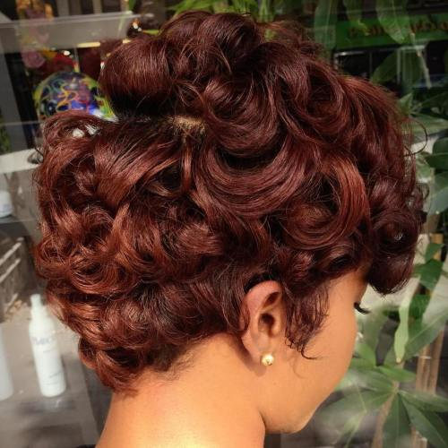 Short Curly Chestnut Hairstyle