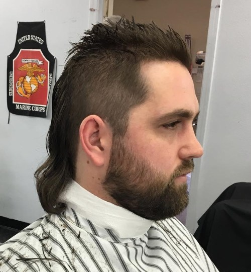 long mullet with spiked top