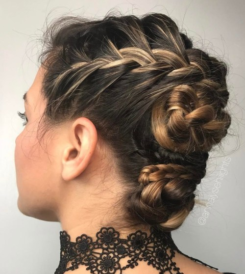 Braided Buns Updo