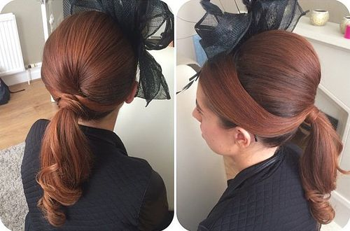 polished ponytail with a bouffant