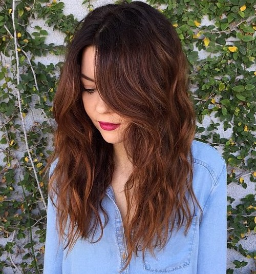 Long Wavy Chestnut Brown Hairstyle
