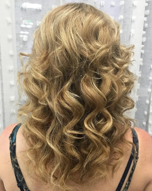 Perm With Large Bouncy Curls