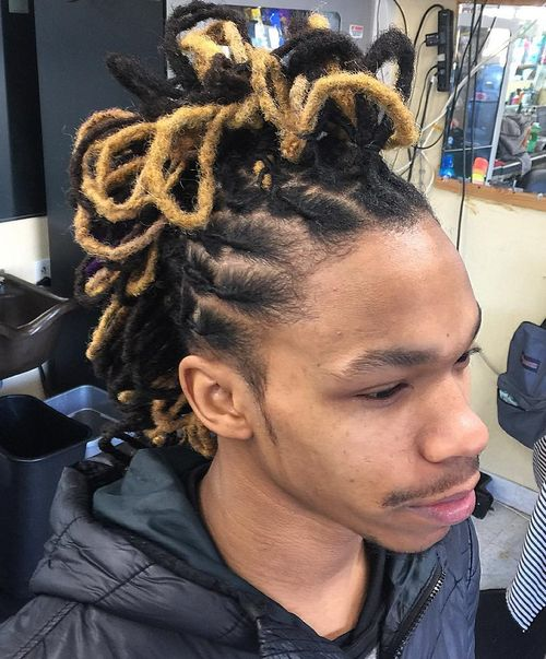 black and blonde dreadlocks hairstyle for men