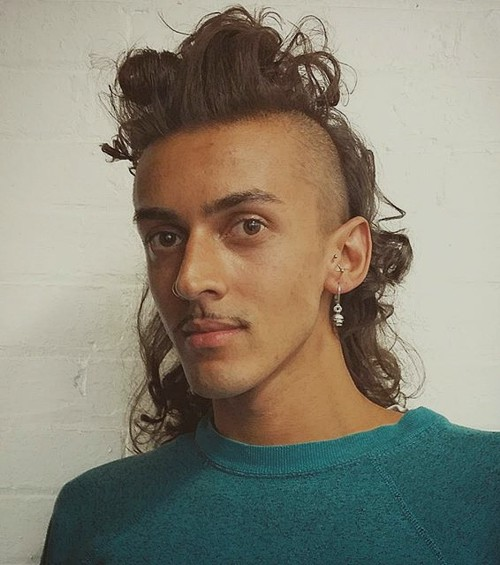 curled mullet with undershaves