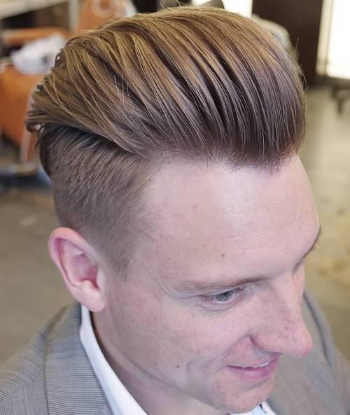 Long Top Short Sides Slicked Back Hair