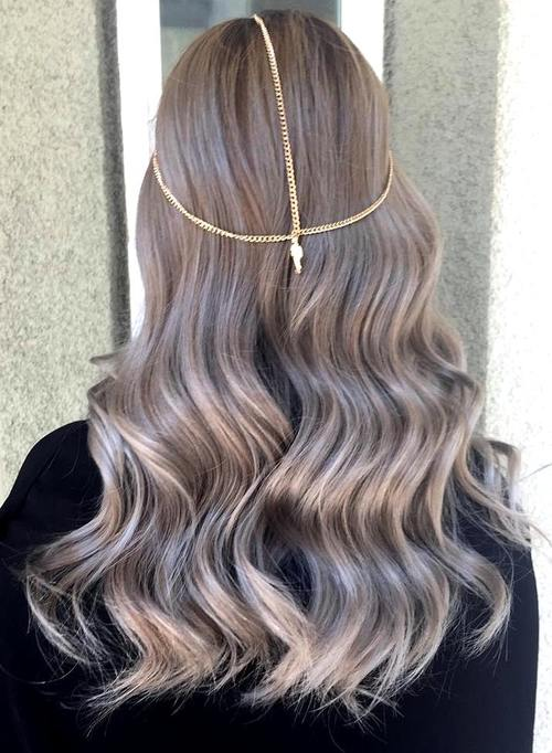 subtle ash brown ombre