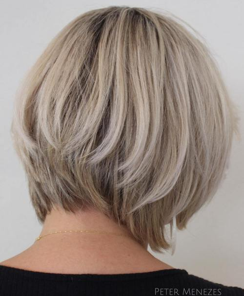 Two-Tier Ash Blonde Bob