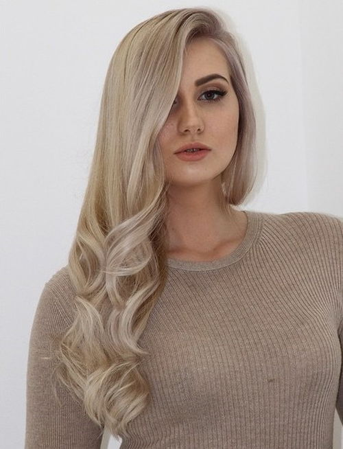 side downdo ash blonde hairstyle