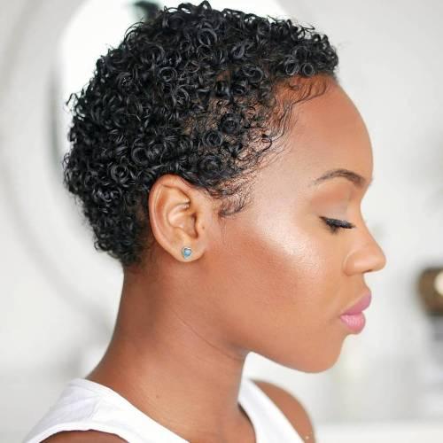 Gelled Twa Hairstyle