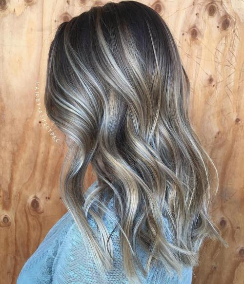 40 ash blonde hair looks youll swoon over ash blonde and platinum balayage for brunettes pmusecretfo Choice Image