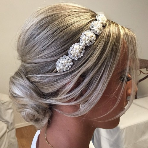 Bridal Bun For Shorter Hair