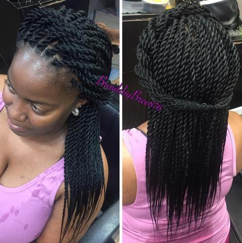 Halo Half Updo For Rope Twists - Senegalese Twists – 40 Ways To Turn Heads Quickly