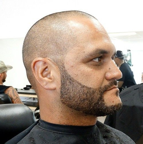 extra short almost bald men's haircut