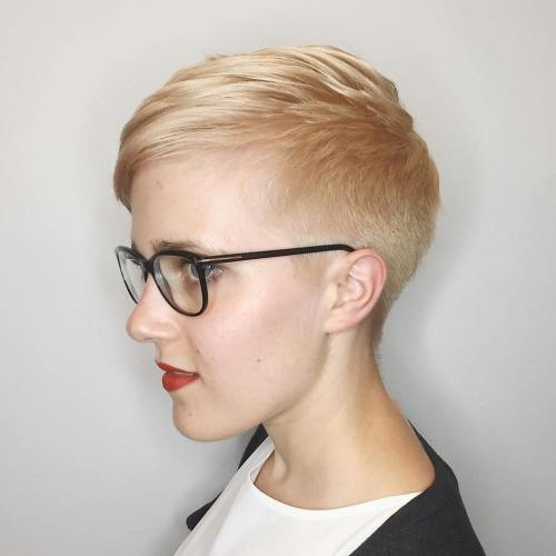 Tapered Blonde Pixie