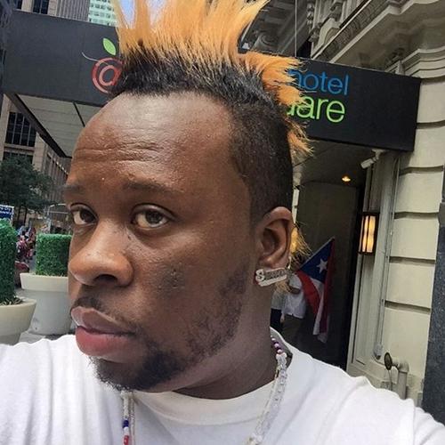 orange mohawk for black men