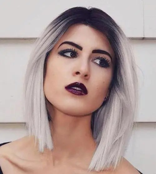 Super 40 Hair Solor Ideas With White And Platinum Blonde Hair Hairstyles For Women Draintrainus