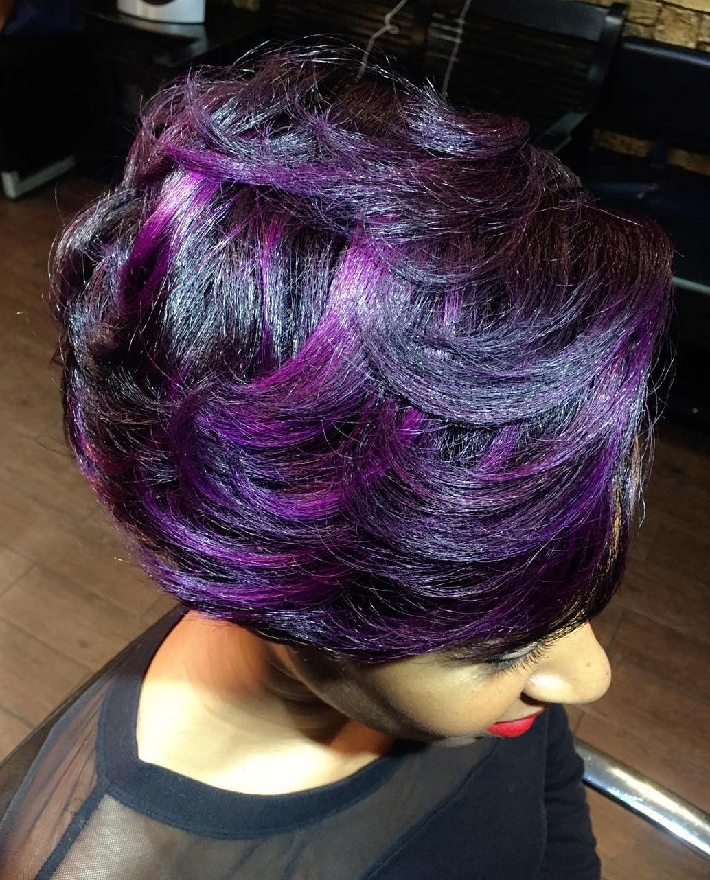 40 versatile ideas of purple highlights for blonde, brown