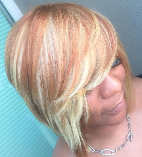 Strawberry Blonde Sew-In Bob