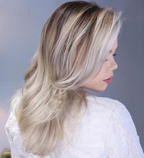 Ash Blonde Ombre Highlights