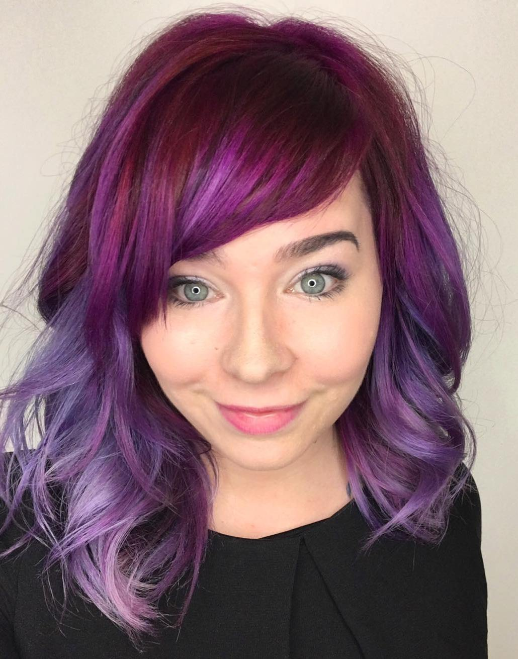 Magenta To Purple Ombre Hair