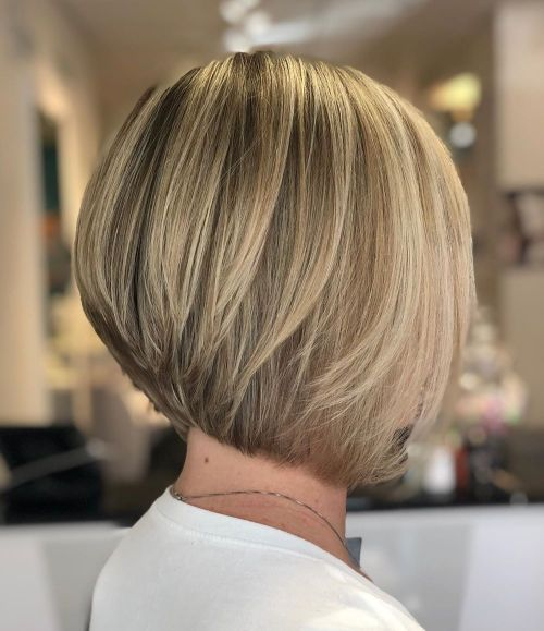 Neat Straight Inverted Bob For Straight Hair