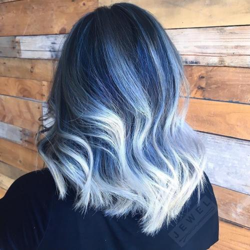 Gimme the blues bold blue highlight hairstyles pastel blue hair pmusecretfo Gallery
